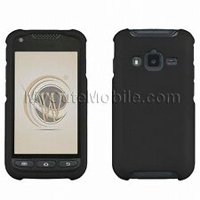 Samsung Galaxy Rugby Pro i547 Case -Black Rubberized Feel coated Hard Cover AT&T