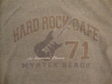 "Hard Rock Cafe ""An American Classic"" Myrtle Beach Soft Gray Ringer T Shirt M"