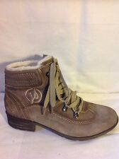 Jana Brown Ankle  Suede Boots Size 5.5