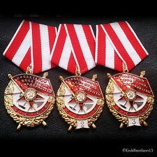 Order of the Red Banner SET First Soviet Military Decoration Russian Medals Copy