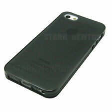 BLACK GRAY FROST CLEAR Thin TPU GEL Case Cover For Apple iPhone 5 5G 5th 5S  SE