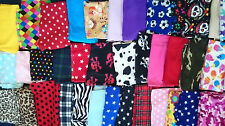 1 Kilo Assorted Fleece Fabric Offcuts Plain Printed Material Art Craft Bundle