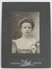 Cabinet Card Photograph Woman Young Lady Dress High Fashion Bristol Connecticut