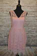 Modcloth Layer on the Love Dress in Blush NWT Sz 12 $149Lace scallop sweetheart