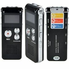8GB Digital Audio Voice Recorder Rechargeable Dictaphone Telephone MP3 Player