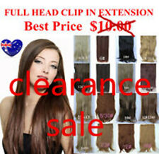 *50% OFF* ONE PIECE FULL HEAD CLIP-IN HAIR PIECE HAIR EXTENSION STRAIGHT STYLE
