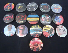 "The Police Sting 1.25"" 1983 Vintage Button Pin set 16 different"