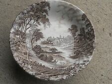 "5 x Ridgway  Ironstone ""Meadowsweet"" soup plates, 1 chipped,hand engraving."