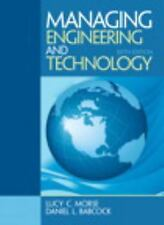NEW Managing Engineering and Technology (6th Edition) (International Edition)