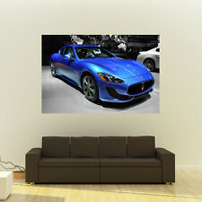 Poster of Maserati Granturismo Sport Blue F Giant Super Car Huge Print 54x36