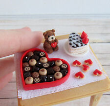 St Valentine's Day Teddy Bear Handmade Dollhouse Miniature Food