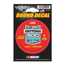 "Joey Logano #22 3"" Daytona 500 win Round Decal Pennzoil 2015 Free Shipping"