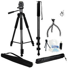 3 Piece Tripod Holiday Bundle for Sony NEX FS100UK Professional Camcorder