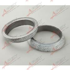 "2PCS 2.5"" HEADER/MANIFOLD/DOWNPIPE EXHAUST FLANGE WELD-ON GRAPHITE DONUT GASKET"