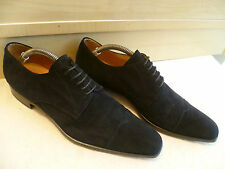 Billionaire suede leather dress derby UK 6.5 40 black pointed cap toe lace up