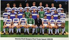 QPR FOOTBALL TEAM PHOTO 1988-89 SEASON