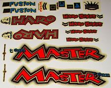 HARO MASTER BMX Sticker Set - '90s Old School Freestyle BMX Decal Set - NOS