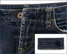 Blue Denim & Button Pants Shorts Jeans Trouser Expansion Enlarge Waist Size