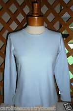 CHEROKEE KNIT TOP~Waffle Weave~Long Sleeves~Light Blue~Miss Size Small~FREE SHIP
