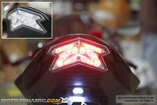 2013-2016 Kawasaki Ninja ZX-6R ZX6R Z800 SEQUENTIAL Signal LED Tail Light Clear