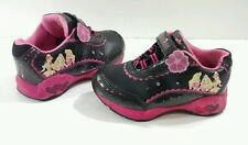 Disney's Princess Toddler Girls 8M Light Up Black & Pink Play Sneakers