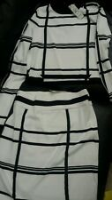 River island top and skirt white and black Co-ord set UK size 12