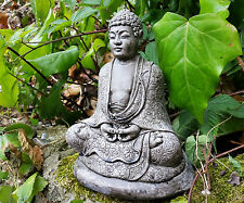 BUDDHA GARDEN ORNAMENT STONE CAST STATUE HAND MADE patio statue budha rockery