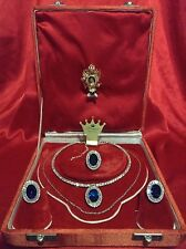 BEYOND LUXURY SAPPHIRE & DIAMOND JEWELRY SET PRINCESS DI ROYAL MEMORABILIA