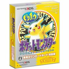 Nintendo 3DS Pokemon Yellow Download Special Edition Included Map & Magnet Japan
