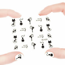 Nail Art Manicure Water Transfer Decal Sticker Lovely Cat YB620
