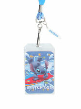 NEW Disney Lilo & Stitch Hawaii SURFING ID Holder Pin Lanyard W/ Surfboard Charm