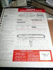 FICHE TECHNIQUE AUTOMOBILE RTA SIMCA 1100 SPECIAL ET 1100 TI