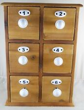 6 Drawer Apothecary Spice Chest Utility Cabinet Jewelry Chest Storage Organizer
