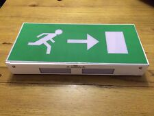 Gent Self Contained Box Emergency Exit Light Maintained with Right Hand Sign