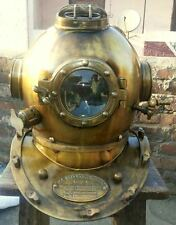 Antique Royal Navy Diver Vintage Diving Helmet Mark V Deep Water Divers Helm