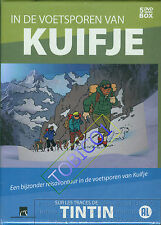 IN DE VOETSPOREN VAN KUIFJE - SUR LES TRACES DE TINTIN - 5 DVD BOX - SEALED