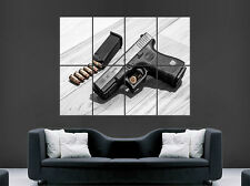 GLOCK 32 SEMI AUTOMATIC GUN PISTOL BULLETS POSTER WEAPON ART WALL LARGE