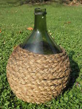 Vintage 1800's Glass Onion Bottle old Squat/String primitive Rim/Pontil antique