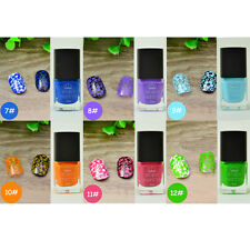 【Born Pretty】6 Flacons Vernis Spécial Stamping Nail Art Stamping Polish #7-12