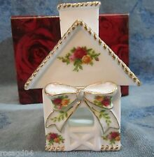 Royal Albert Old Country Roses Basket Weave Cottage Votive Candle Holder NEW
