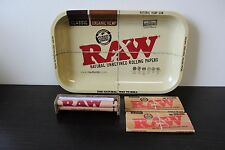 Raw Rolling Tray Combo~Raw 110mm Roller~Raw King Size Rolling Papers~Raw Tray