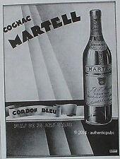 PUBLICITE COGNAC MARTELL CORDON BLEU 35 ANS D'AGE DE 1933 FRENCH AD ADVERT PUB