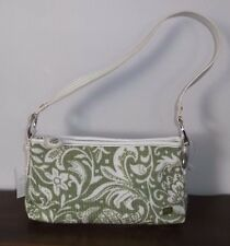 THE SAK Green & White KNIT / CROCHET Small SHOULDER BAG ~ Brand New w/Tags