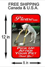 12 x 8 poop stoop and scoop color lawn sign dog waste pick up after your dog