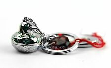 BACCARAT ZOO COLLECTION DUCK TIN KEY RING CHAIN CHARM RUBY CRYSTAL FRANCE NEW