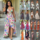 Sexy Women Summer Long Maxi BOHO Evening Party Dress Beach Dresses Sundress UK