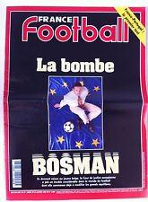 France Football du 23/1/1996; La bombe Bosman/ France-Portugal