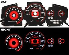 92-95 EG Honda Civic EX Si RED Reverse Glow Gauge Type-R BLACK MT