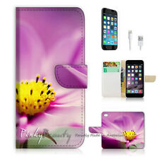 "iPhone 6 (4.7"") Print Flip Wallet Case Cover! Pink Flower P1374"