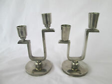 Extremely Rare Early Svenskt Tenn Pewter Candlesticks, Stockholm Sweden 1930